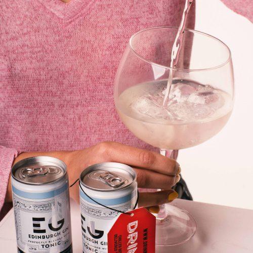 Drinkly Christmas Photoshoot Food & Drink Female Model Edinburgh Gin