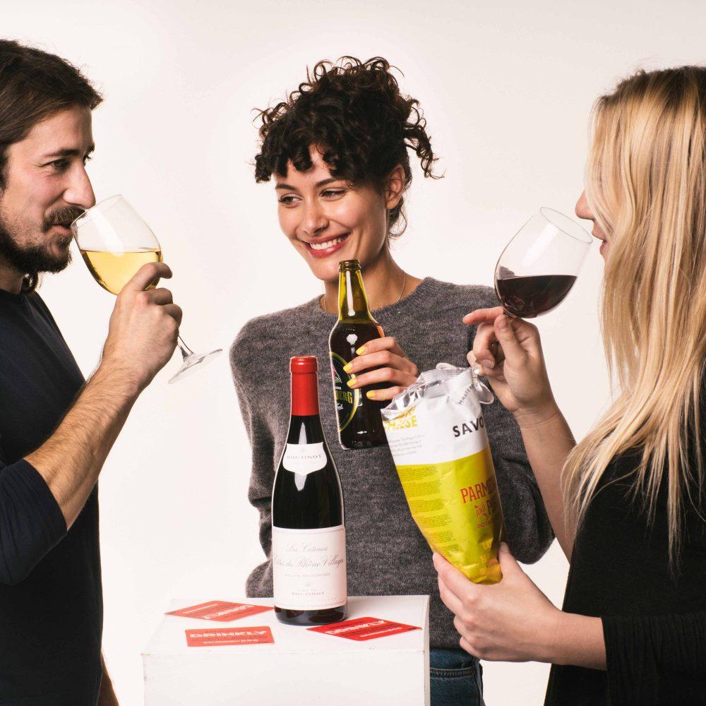 Drinkly Christmas Photoshoot Food & Drink Female Male Model Wine