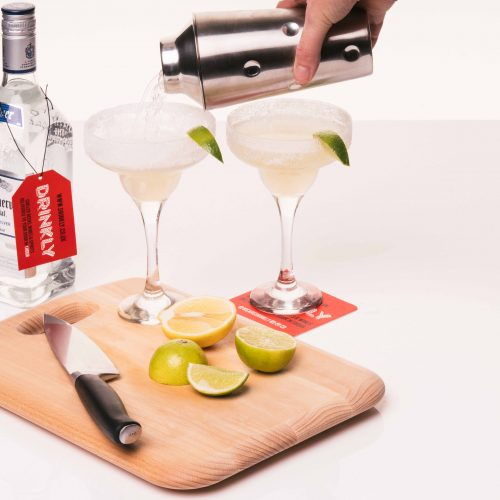 Drinkly Christmas Photoshoot Food & Drink Female Male Model Tequila Shots