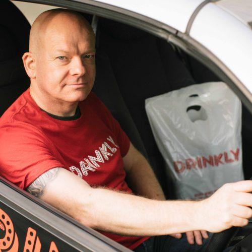 Drinkly Photoshoot Portrait Delivery Man Edinburgh